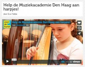 Harpjesactie bij Voordekunst